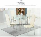 Vidro temperado de alta qualidade Conjunto de mesa de jantar