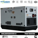 conjunto de generador silencioso estupendo 60dB con el motor de Kubota para las telecomunicaciones