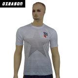 Impression faite sur commande Men&prime de sublimation de teinture d'Ozeason ; T-shirt estampé blanc d'été de S
