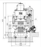 Appuyez sur machine à briques hydraulique automatique