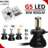 Top Lumen 18 meses de garantia 80W 8000lm 9V-36V H1 H3 H7 9005 9006 cabeça LED de luz do farol de LED para carro