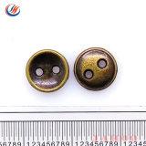 Sliver de Ouro Preto Vogue Orifício Estilo Botão Costura Vestuário Vestuário de botão de metal para lubrificar o revestimento do Botão
