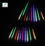 Indicatore luminoso esterno della meteora di natale di colore LED di RGB della decorazione
