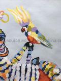 カスタムハンドメイドの油絵の芸術の居間のための動物のシマウマのキャンバスの絵画