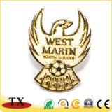 Club de soccer de l'insigne de football de métal