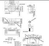 Hdr D-SUB 9/15 Pinの男性か女性のすくい90度のコネクター
