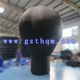 Neue bekanntmachende 6m aufblasbare schwarze Bodenballone/im Freien aufblasbare Förderung-Bodenballon