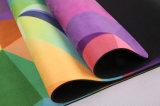 Подгонянная напечатанная конструкцией циновка йоги Microfiber резиновый