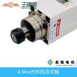 4.5kw ER32 18000rpm Lub por la grasa CNC de madera Máquina refrigeración por aire motor del huso