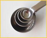 4 PCSの別のサイズのステンレス鋼のコーヒースプーン