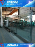 Limpar o vidro temperado para o zoneamento de partição de escritório balaustrada Copo