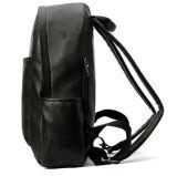 Trouxa de couro preta do saco de escola do plutônio da forma para adolescentes