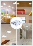Plafonnier carré de panneau de la lampe DEL de l'usine AC85-265V 90lm/W 12W