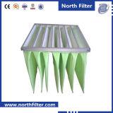 filtro de bolsos de la fibra de vidrio 8 del marco de acero de 20m m Galvanzied