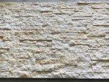 Impiallacciatura beige della Castle Rock della decorazione della parete di pietra della coltura