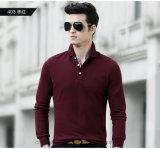 Chemise de polo de la meilleure qualité de golf de piqué de chemise du ressort des hommes longue