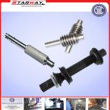 Eixo da movimentação de aço personalizado com o CNC que faz à máquina o giro do CNC
