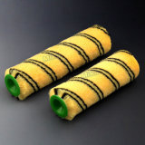 Double Black Strips on Yellow Polyester Paint Roller