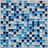 2017 neu! Blaue quadratische Mosaik-Glas-Fliesen