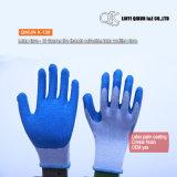 Mesures K-128 10 5 gants fonctionnants de sûreté de latex de Polycotton d'amorçages