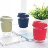 Tasse de café en verre de tasse de course de l'Australie 12oz-16oz d'exportation avec l'adhérence de silicones