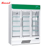 Refrigerador de vidro ereto da porta do refrigerador do indicador do Showcase do supermercado