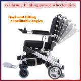 [إ-ثرون]! [بورتبل] كثّ مكشوف يطوي قوة كرسيّ ذو عجلات مع [س] و [فدا]