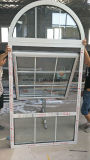 Gitter konzipieren doppeltes Inuslating Glasaluminiummarkisen-Fenster mit der gewölbten Oberseite