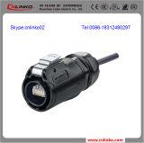 Conetor Rj45 8p8c impermeável/plástico do conetor novo do conetor Rj45/Ethernet do Ethernet do projeto