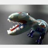 De blauwe Dinosaurus vormt de Waterpijp van het Glas van de Tabak van de Filter