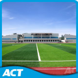Трава содружественного футбола окружающей среды синтетическая с пряжей стержня