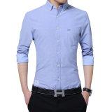 Beiläufigen Normallack-nehmen die langen Hülsen-Hemden der Männer passendes Hemd-Baumwollhemd ab