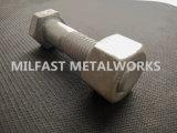 Boulons DIN 931 gr. 8.8 avec l'IMMERSION chaude Nuts hexagonale DIN 934 gr. 8 galvanisée