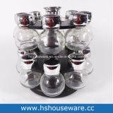 Vaso della spezia di doppio strato e bottiglia di vetro liberi rotativi del Cruet