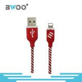 Кабель заряжателя передачи данных USB цветастой молнии микро-