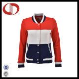 Горячая продавая выполненная на заказ куртка бейсбола износа спортов для женщин