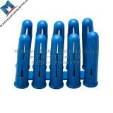 Ancre en plastique bleue de prise de mur