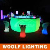 RGB LED 가구 호텔을%s 임대 둥근 바 카운터