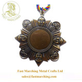 工場Price Custom Finisher Hanger Medal Gift 3D Copper Medallion