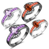 Anillo púrpura de cristal de la joyería de la manera de las piedras del nuevo item