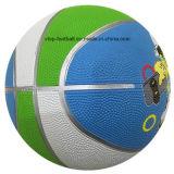 Baloncesto colorido con la línea de plata nuevo diseño
