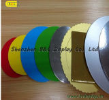 Shinny Fresh New Color Round Cake Board, Cake Drums mit SGS (B&C-K070)
