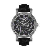 De Diamanten van de pauw Dame Watch Rainbow Flower Mechanical Horloge