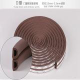 Embalagem de porta em forma de D Tira de vedação de espuma EPDM impermeável