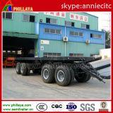 Drie-as 11m - 12.5m trekt de Semi Aanhangwagen van de Staaf/de Aanhangwagen van de Vrachtwagen