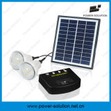 Sistema Solar com 2 lâmpadas&carregador de telemóvel&4W Painel Solar&2W Lâmpada Solar para Piscina