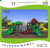 Kaiqi im Freienspielplatz der mittelgrossen Waldserien-Kinder (KQ35021A)