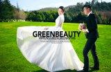 Платье венчания Ballgown кристаллический сатинировки Bridal (TJBLCT009)