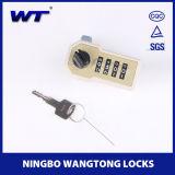 Bloqueo numérico de los dígitos de las pinzas 4 de Wang con el clave del encargado para la cabina