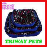 Bases impresas baratas del animal doméstico del gato del perro del paño grueso y suave (WY161052-3A/C)